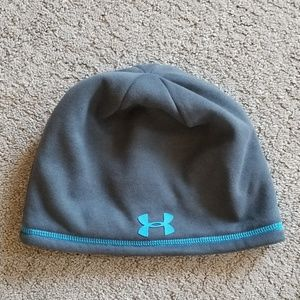 Under Armour hat, gray & blue, perfect condition.
